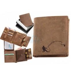 Peňaženka kožená - Rybár...
