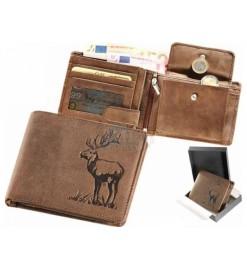 Peňaženka kožená - Jeleň