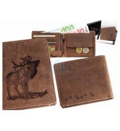 Peňaženka kožená - Jeleň v...