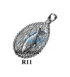 Kľúčenka R 11 - Biela ryba