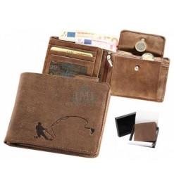 Peňaženka kožená - Rybár